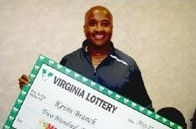 Lightning struck twice for Kevin Branch of Chesterfield, Virginia, who claimed his second $250,000 Mega Millions prize in three months.
